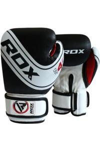 Детские перчатки RDX Boxing Gloves Kids White-Black 4oz